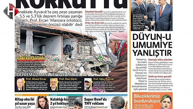 7 Şubat Salı Gazete Manşetleri