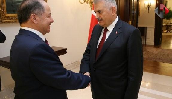 Başbakan Yıldırım Barzani'yi kabul etti