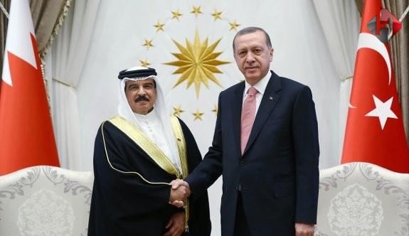 Cumhurbaşkanı Erdoğan ile Bahreyn Kralı Halife bir arada