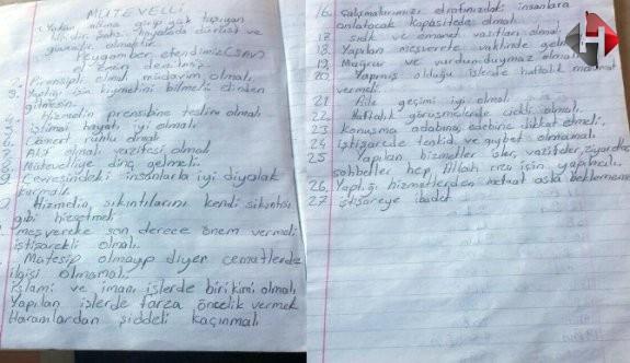 Fetö Mensubuna Ait İlk El Yazılı Belge Bulundu