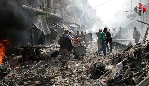 Suriye'de rejim güçleri taziye çadırını bombaladı: 20 ölü