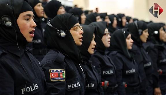Türk Kadın Polislere,Başörtüsü ...