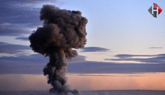 Türkiye sınırında şiddetli patlama