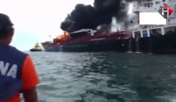 168 bin varil petrol yüklü tanker alev alev !