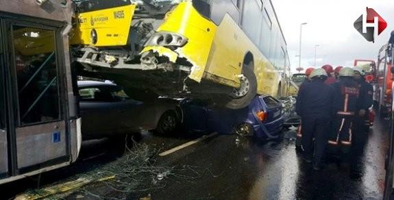 İstanbul'da Korkunç Trafik Kazası Yaşandı
