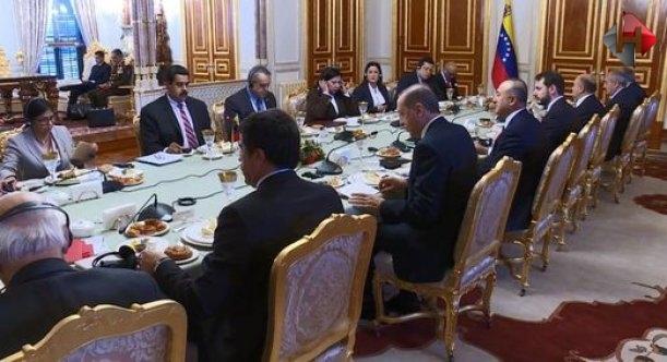 Cumhurbaşkanı Erdoğan ile Venezuella Devlet Başkanı Nicolas Maduro görüştü