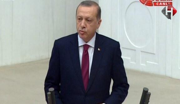 Erdoğan  TBMM'de Net Konuştu : Her kim 15 Temmuz'a  darbe diyemiyorsa...