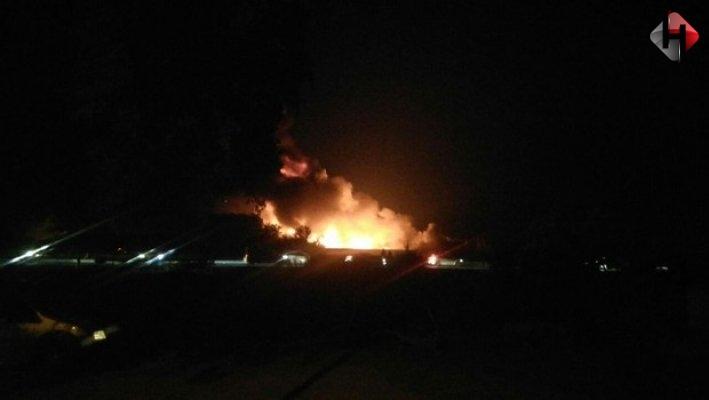 İzmir'de tesis yangını!