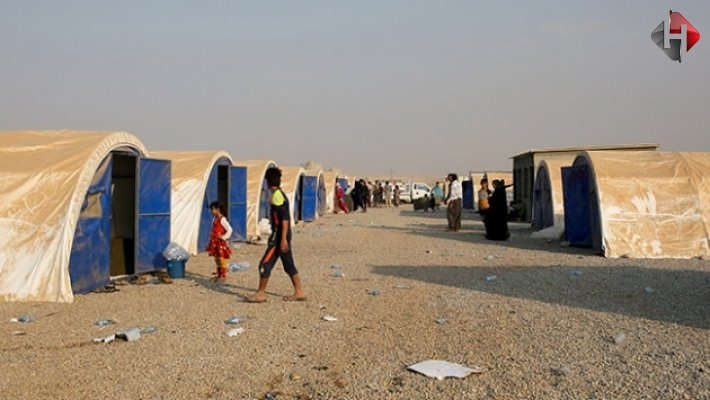 Sığınmacı kampında izdiham