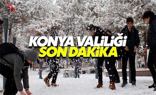 Konya Valiliği 26 Aralık Pazartesi bugün Konya'da okullar tatil mi son dakika