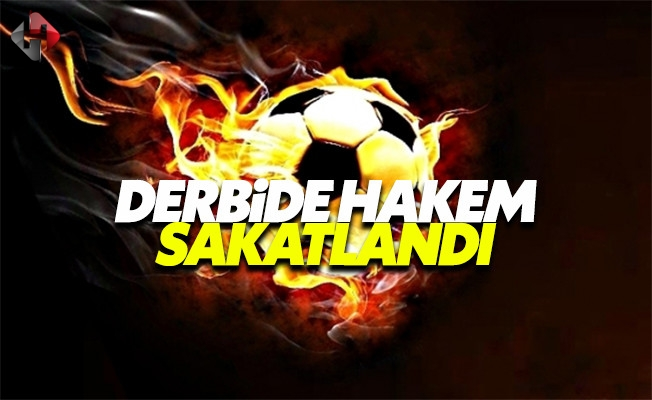 Trabzonspor Fenerbahçe derbisinde hakem sakatlandı
