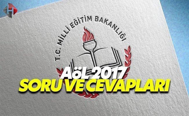 1. Dönem AÖL 2017 Sınavı Soru ve Cevapları MEB 7 Ocak Cumartesi