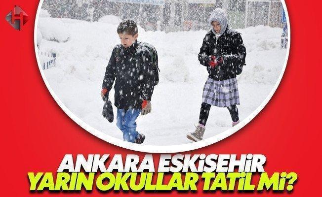 Ankara Valiliği yarın 13 Ocak Cuma okullar tatil mi son dakika