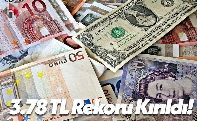 Dolar Yeni Rekoru 3.78 TL İle Rekor Kırdı!