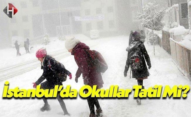 İstanbul'da Okullar Tatil Olacak Mı? Pazartesi İstanbul Okullar Tatil Mi? 09.01.2017 Okullar Tatil Edilecek Mi?