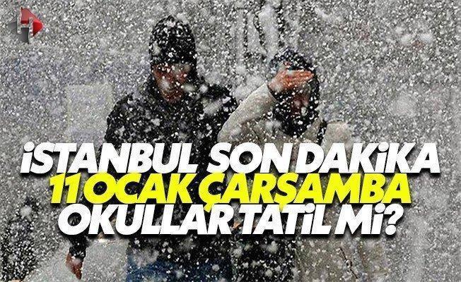 Vasip Şahin son dakika İstanbul yarın 11 Ocak Çarşamba okullar tatil mi