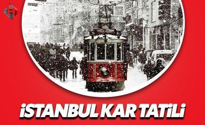 Son dakika İstanbul yarın 12 Ocak Perşembe okullar tatil mi valilik