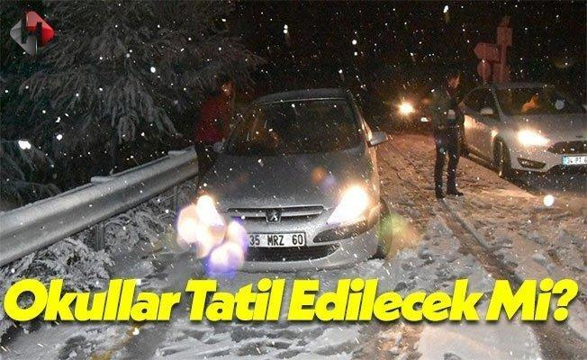izmir'de 12 Ocak 2017 Okullar Tatil Edilecek Mi?