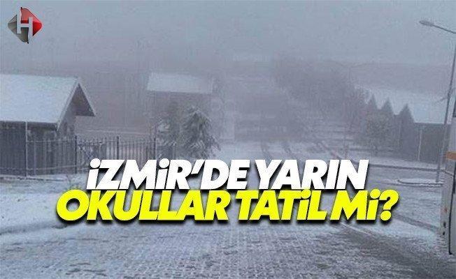 İzmir Valiliği yarın 11 Ocak Çarşamba okullar tatil mi son dakika