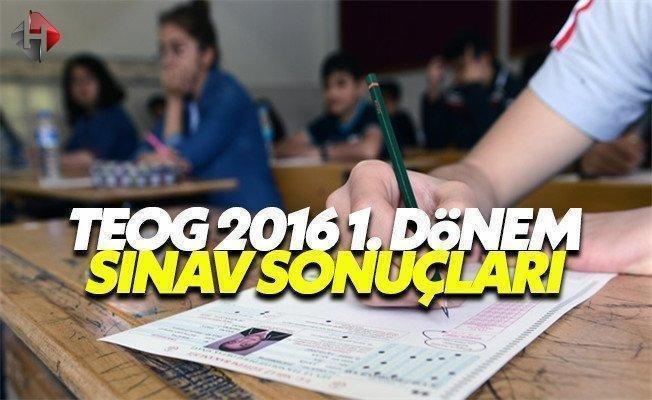 MEB TEOG 2016 1. dönem sınav sonuçları E Okul sorgulama giriş