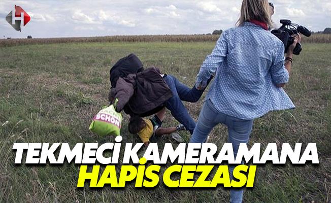 Mültecilere Tekme Atan Macar Kameramana Hapis Cezası