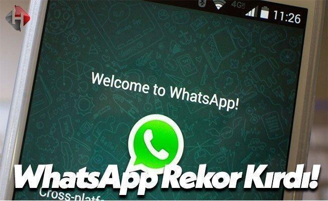 WhatsApp Bu Sefer Rekoru Kırdı!