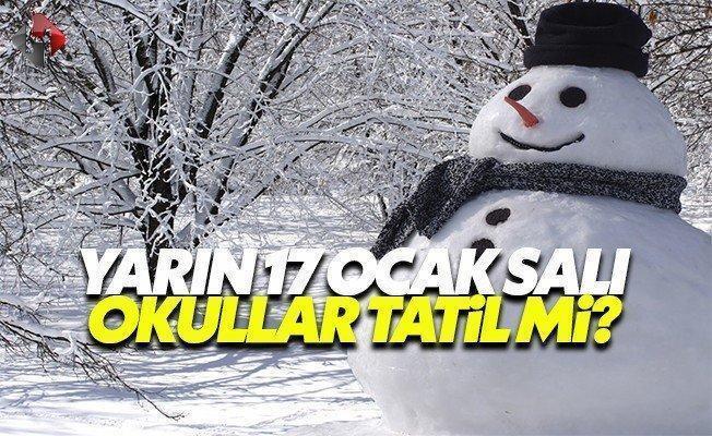 Yarın 17 Ocak Salı okullar tatil mi son dakika valilik kar tatili olan okullar