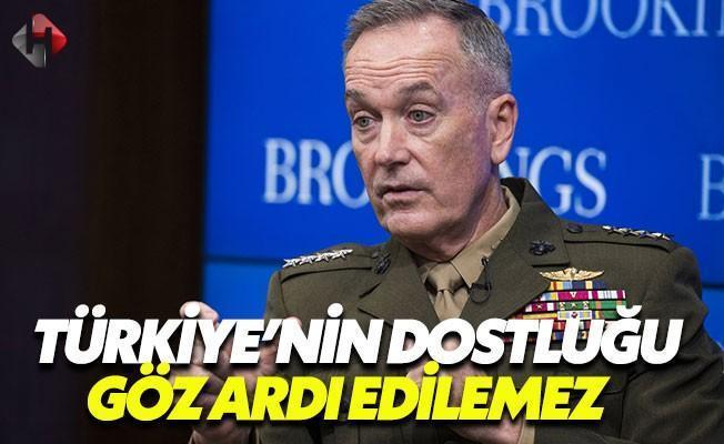 ABD Genelkurmay Başkanı: Türkiye Önemli Bir Müttefikimiz