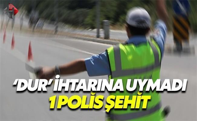 İzmir'de Dur İhtarına Uymayan Araç Polise Çarptı