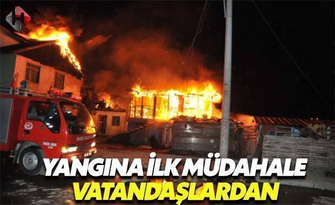 Yangına İlk Müdahale Vatandaşlardan