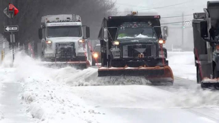 ABD'de kar fırtınası 18 milyon kişiyi vurdu