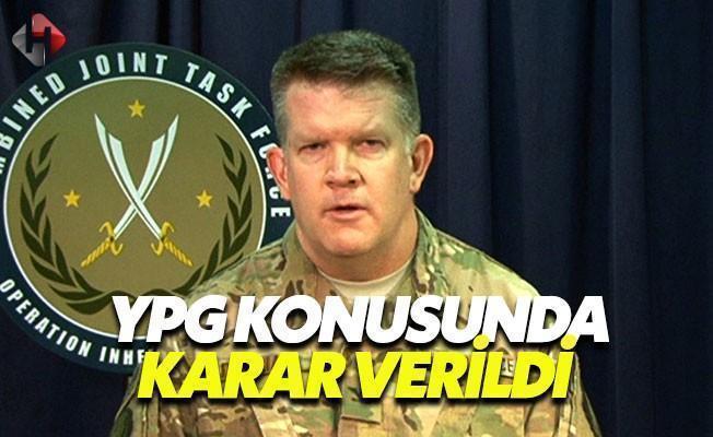 ABD, YPG Konusundaki Kararını Açıkladı