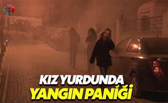 Beşiktaş'taki Kız Yurdunun Önünde Yangın Çıktı