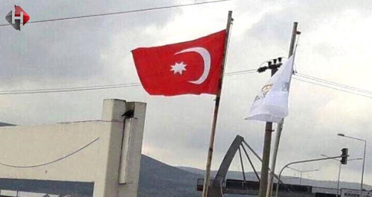 Bursa'da Türk bayrağı yerine Osmanlı bayrağı
