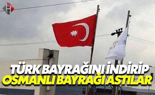 Bursa'da Türk Bayrağını İndirip, Osmanlı Bayrağı Astılar