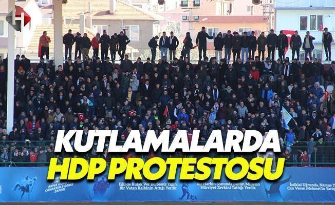 Çanakkale Kutlamalarında Belediye Başkanına Protesto