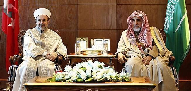 Diyanet İşleri Başkanı Görmez, Suudi Bakan Salih Bin Abdülaziz'i Kabul Etti