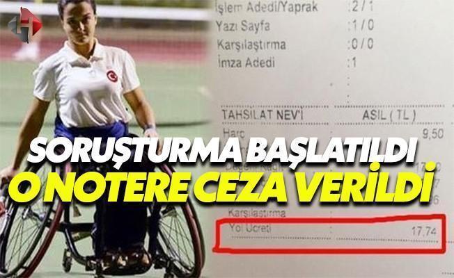 Engelli Sporcudan Yol Ücreti Alan Notere Ceza!