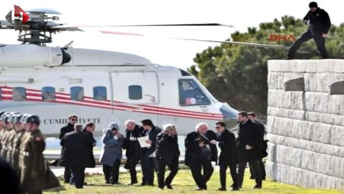Numan Kurtulmuş'un helikopteri hava akımına kapıldı