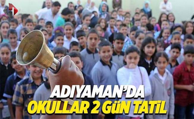Samsat yarın 6 Mart Pazartesi ve 7 Mart Salı okullar tatil mi Adıyaman Valiliği son dakika