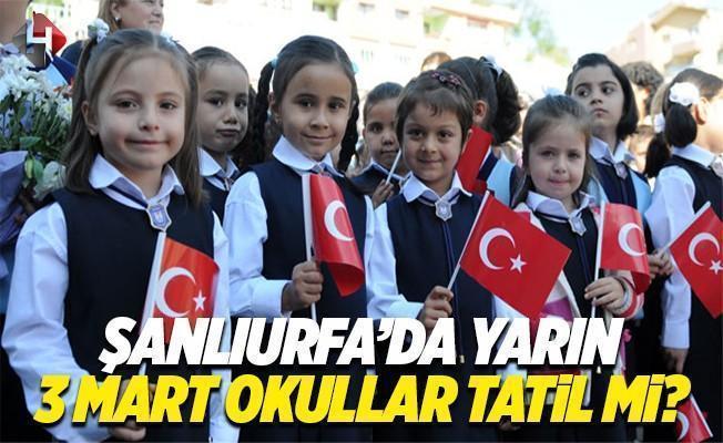 Şanlıurfa'da bugün okullar tatil edildi
