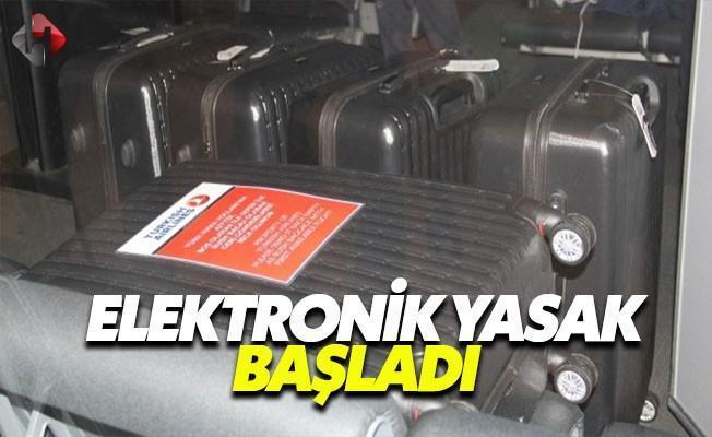 THY'da  Elektronik Yasağı Başladı