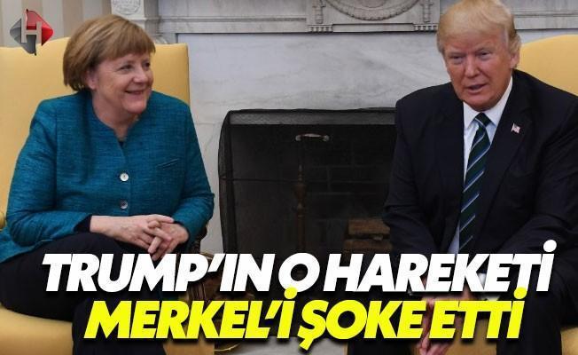 Trump, Merkel'in Elini Sıkmadı