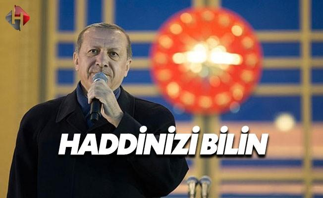 Cumhurbaşkanı Erdoğan'dan AGİT'e Sert Tepki
