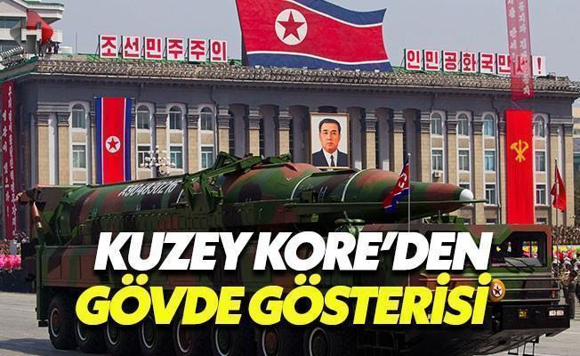 Kuzey Kore'den Güneş Günü'nde Gövde Gösterisi