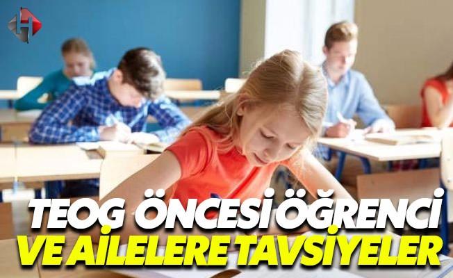 TEOG Öncesi Öğrencilere Altın Tavsiyeler