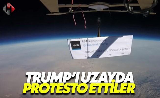Uzayda Donald Trump'ı çıldırtacak protesto