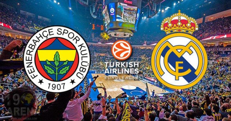Fenerbahçe Real Madrid Euroleague şifresiz TRT Spor beIN Sports canlı skor maç sonucu