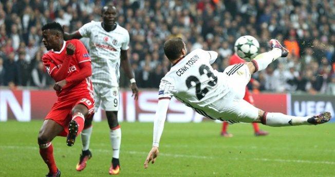 Beşiktaşlı Cenk Tosun'dan Şampiyonlar Ligi'nde yılın golü