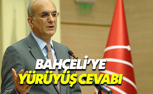 CHP'den MHP'ye Adalet Yürüyüşü cevabı